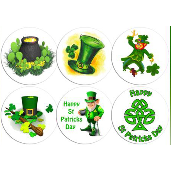 12 edible st patricks day cake decorations holly cupcakes for Decoration saint patrick