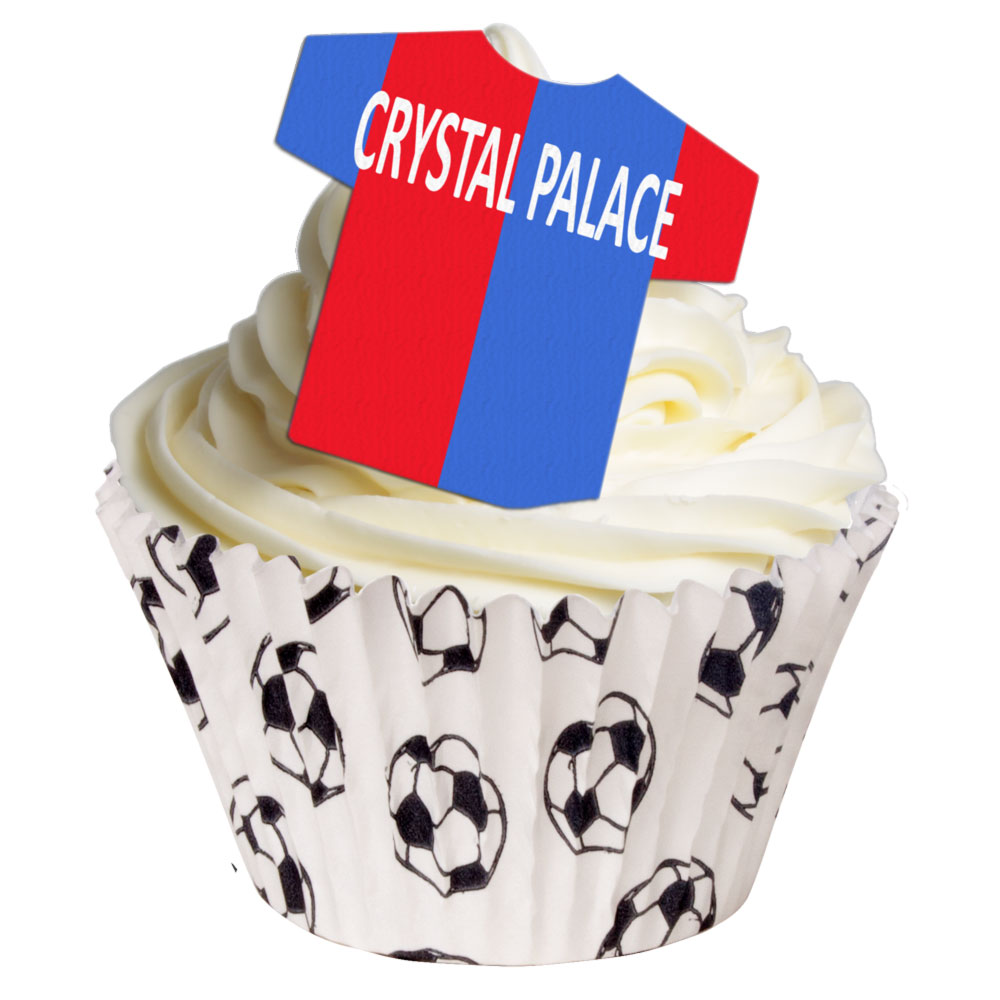 12 Edible Football Team Cake Toppers: Crystal Palace | Holly Cupcakes