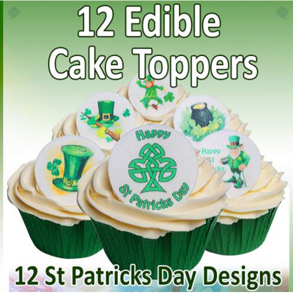 Cake Decorating St Patrick Day : 12 Edible St. Patricks Day Cake Decorations Holly Cupcakes