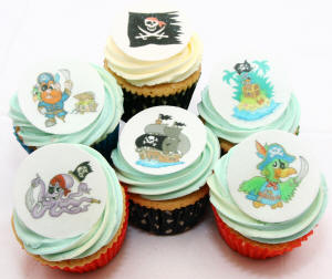 12 Edible Pirate Cake Decorations Holly Cupcakes