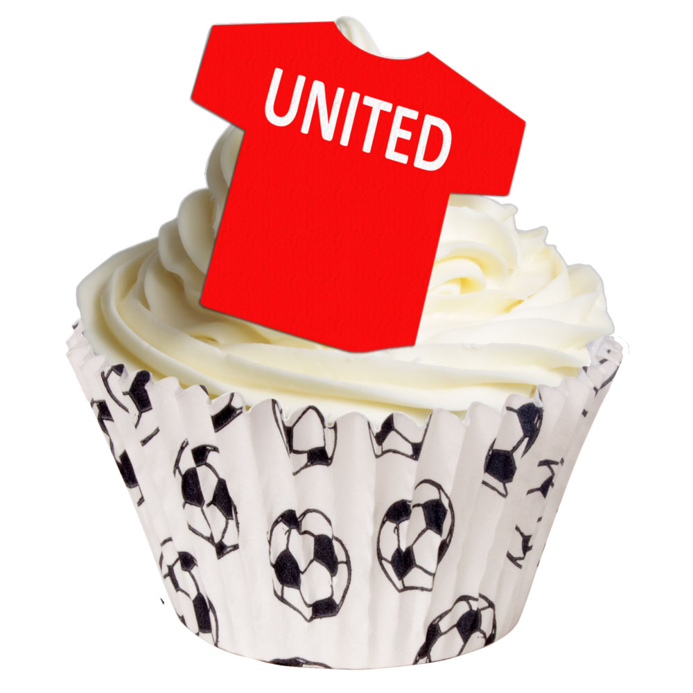 12 edible football team cake toppers manchester united holly cupcakes holly cupcakes