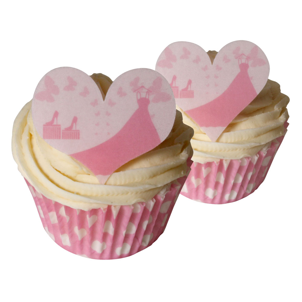Beautiful Heart Cake Images : 12 Pink Wedding Dress Heart Shaped Cake Decorations ...