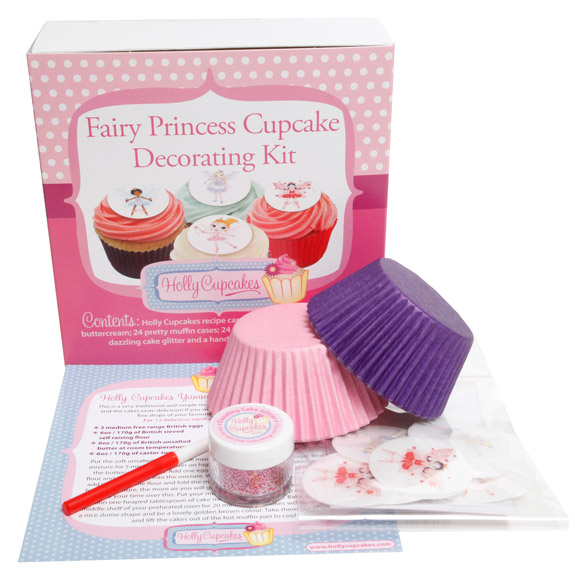 Fairy princess cupcake decorating kit holly cupcakes for Cupcake home decorations
