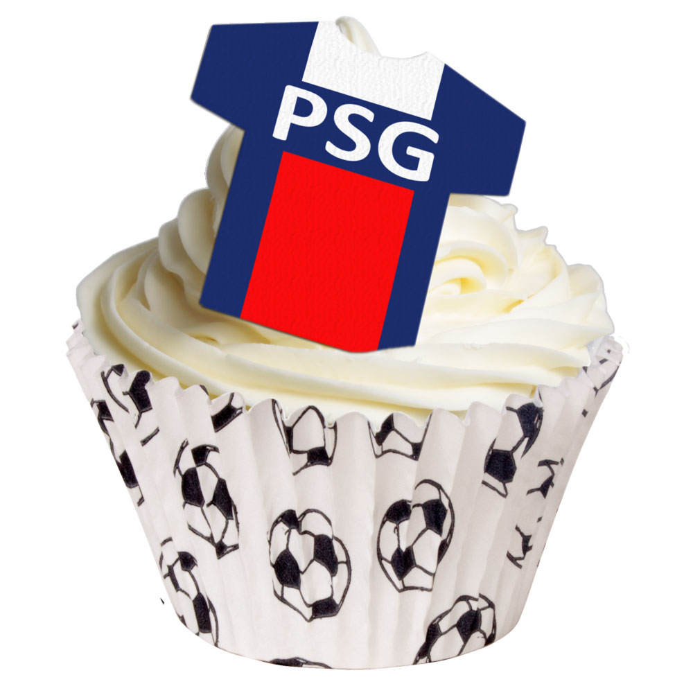 12 Paris Saint Germain Fc Football Toppers Holly Cupcakes